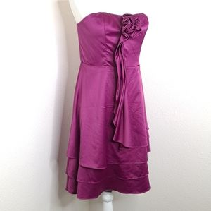 The Limited Dress Strapless Tiered Purple Formal